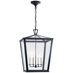 Darlana Medium Hanging Lantern in Bronze
