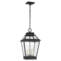 Falmouth Hanging Lantern Dark Weathered Zinc