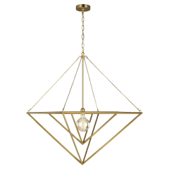 Carat Large Pendant Burnished Brass
