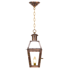 """Georgetown 15"""" Chain Mount Ceiling Lantern in Antique Copper, Electric"""