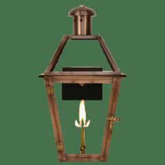 "Georgetown 18"" Wall Lantern in Antique Copper, Gas"