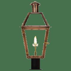 """Georgetown 18"""" Post Lantern in Antique Copper, Gas"""