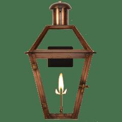 "Georgetown 27"" Wall Lantern in Antique Copper, Gas"