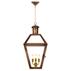 """Georgetown 36"""" Chain Mount Ceiling Lantern in Antique Copper, Electric"""
