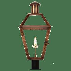 """Georgetown 36"""" Post Lantern in Antique Copper, Gas"""