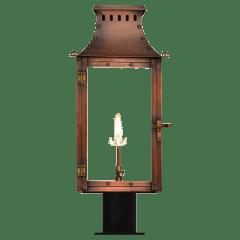 "Market Street 16"" Post Lantern in Antique Copper, Gas"