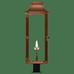 "Market Street 30"" Post Lantern in Antique Copper, Gas"