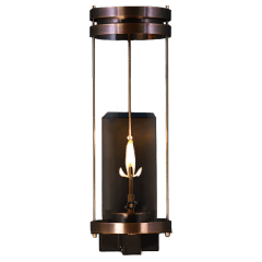 """Paradise Bay 24"""" Wall Lantern in Antique Copper, Gas"""