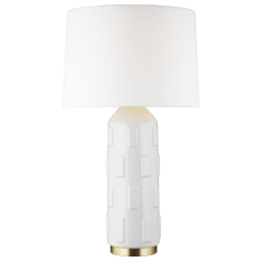 Morada Large Table Lamp Arctic White Bulbs Inc