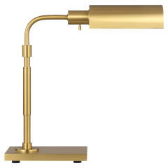Kenyon Task Table Lamp Burnished Brass Bulbs Inc