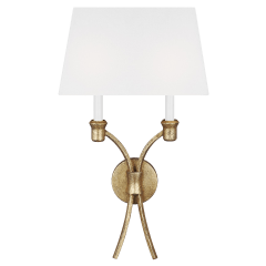Westerly Double Sconce Antique Gild