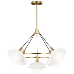 Rossie Medium Chandelier Burnished Brass