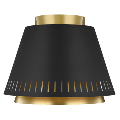 Carter Flush Mount Midnight Black