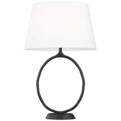 Indo Table Lamp Aged Iron Bulbs Inc