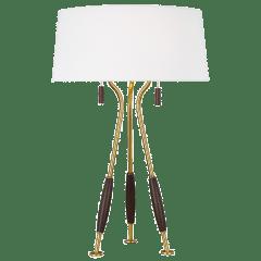 Arbur Table Lamp Burnished Brass Bulbs Inc