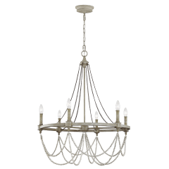 Beverly Medium Chandelier French Washed Oak / Distressed White Wood
