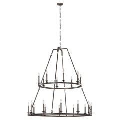 Landen Extra Large Two-Tier Chandelier Smith Steel