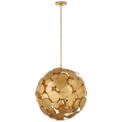 Luna Medium Chandelier in Gilded Iron
