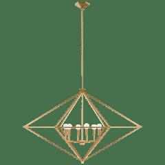 Afton Grande Linear Lantern in Gild