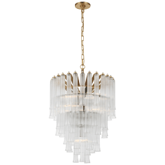 Lorelei Small Waterfall Chandelier in Gild with Clear Glass