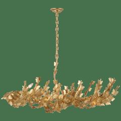 Farfalle Large Linear Chandelier in Gild