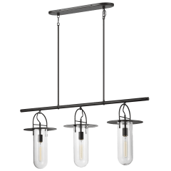 Nuance Linear Chandelier Aged Iron
