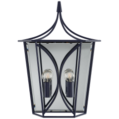 Cavanagh Medium Lantern Sconce in French Navy