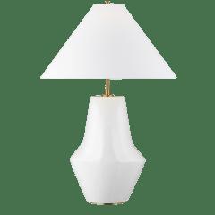 Contour Short Table Lamp Arctic White Bulbs Inc