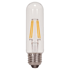 4.5W T10 Clear LED Filament Dimmable E26 2700K 430lm Medium Base