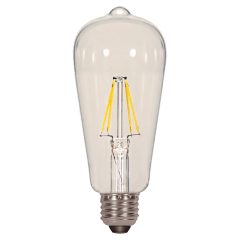 6.5W ST19 Clear LED Dimmable E26 2700K 850lm Medium Base