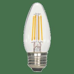 4.5W C11 Clear LED Dimmable E26 2700K 470lm 120V Medium Base
