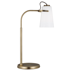 Hazel Task Table Lamp Time Worn Brass Bulbs Inc