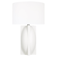 William Narrow Table Lamp Matte Ivory Bulbs Inc