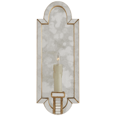 Lido Small Sconce in Antique Mirror and Hand-Rubbed Antique Brass