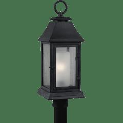 Shepherd Post Lantern Dark Weathered Zinc