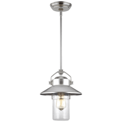 Boynton Small Pendant Painted Brushed Steel