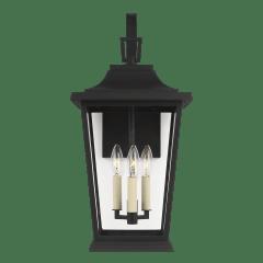 Warren Medium Lantern Textured Black