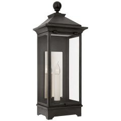 Rosedale Small 3/4 Wall Lantern in French Rust with Clear Glass