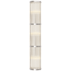 Allen Large Linear Sconce in Polished Nickel and Glass Rods