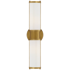 Lichfield Double Sconce in Natural Brass