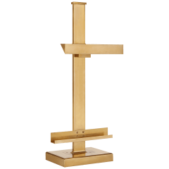 Langham Table Lamp in Natural Brass
