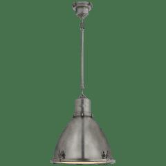 Fulton Medium Pendant in Industrial Steel