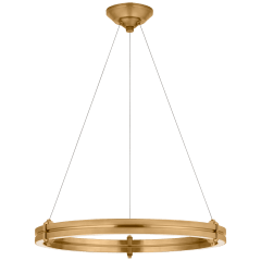 """Paxton 24"""" Ring Chandelier in Natural Brass"""
