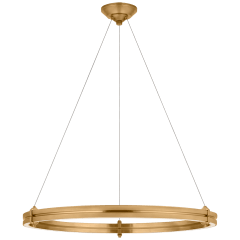 """Paxton 32"""" Ring Chandelier in Natural Brass"""