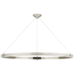 """Paxton 48"""" Ring Chandelier in Polished Nickel"""