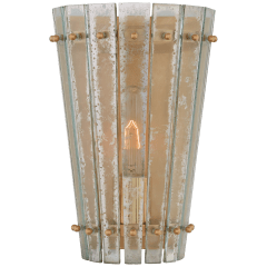 Cadence Small Sconce in Hand-Rubbed Antique Brass with Antique Mirror