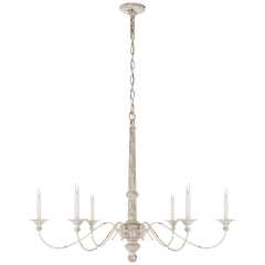 Country Large Chandelier in Belgian White
