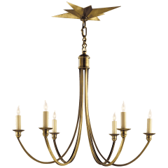 Venetian Medium Chandelier in Hand-Rubbed Antique Brass