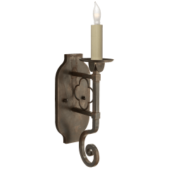 Margarite Single Sconce in Aged Iron