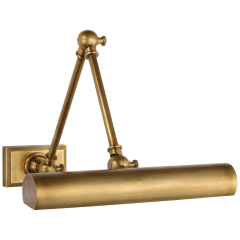"""Cabinet Maker 12"""" Double Library Light in Hand-Rubbed Antique Brass"""